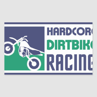 Extreme Hardcore Dirtbike Racing Rectangular Sticker