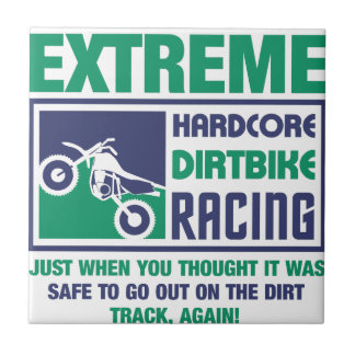 Extreme Hardcore Dirtbike Racing Tile