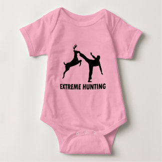 Extreme Hunting Deer Karate Kick Baby Bodysuit
