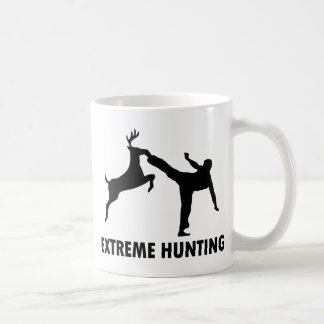 Extreme Hunting Deer Karate Kick Basic White Mug