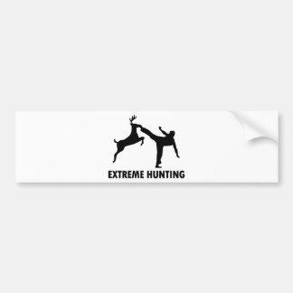 Extreme Hunting Deer Karate Kick Car Bumper Sticker