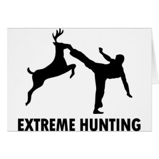Extreme Hunting Deer Karate Kick Greeting Card