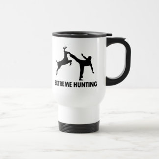 Extreme Hunting Deer Karate Kick Stainless Steel Travel Mug