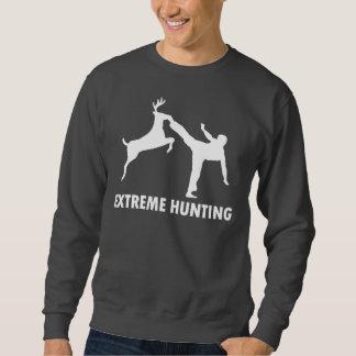 Extreme Hunting Deer Karate Kick Sweatshirt