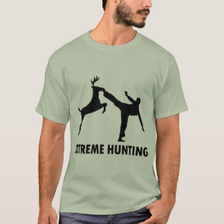Extreme Hunting Deer Karate Kick T-Shirt