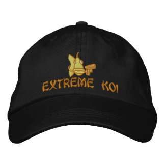 Extreme Koi- Embroidered Hat