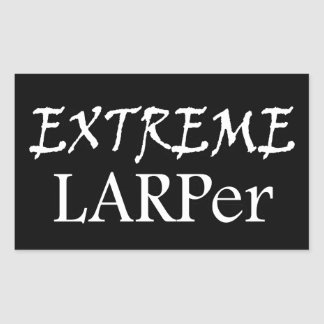 Extreme Larper Rectangular Sticker