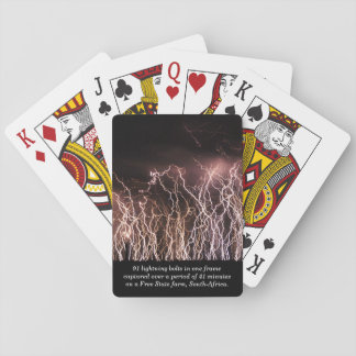 Extreme lightning bolts poker deck