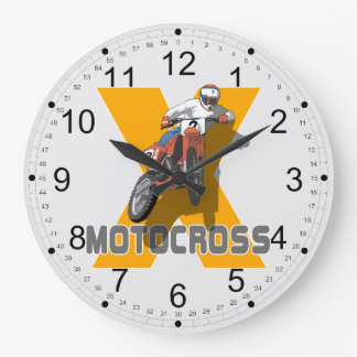 Extreme Motocross Large Clock