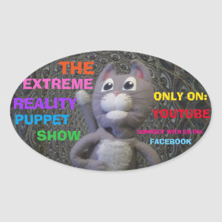 "EXTREME REALITY PUPPET SHOW STICKERS ""DAVE EAGER"""
