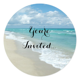 Extreme Relaxation Beach View 13 Cm X 13 Cm Square Invitation Card