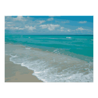 Extreme Relaxation Beach View Graphic Poster