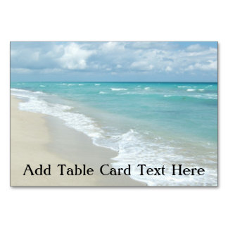 Extreme Relaxation Beach View Ocean Table Card