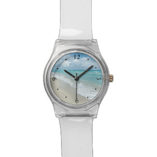 Extreme Relaxation Beach View Ocean Wrist Watches