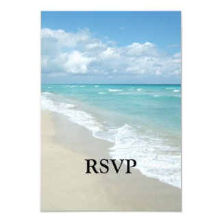 Extreme Relaxation Beach View White Sand 9 Cm X 13 Cm Invitation Card
