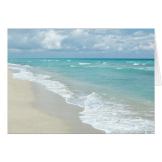 Extreme Relaxation Beach View White Sand Greeting Card