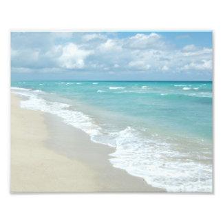 Extreme Relaxation Beach View White Sand Photo Art