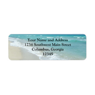 Extreme Relaxation Beach View White Sand Return Address Label