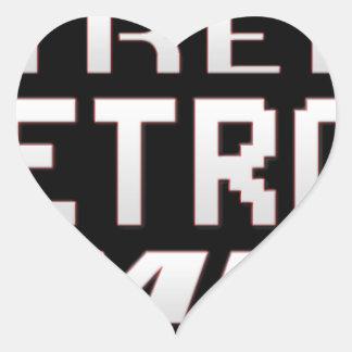 Extreme Retro Gaming Heart Sticker