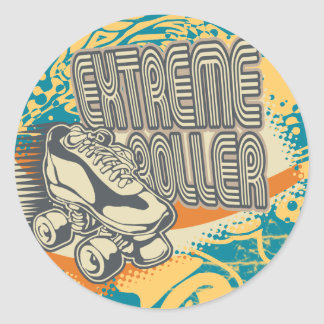 Extreme Roller Tshirts and Gifts Classic Round Sticker