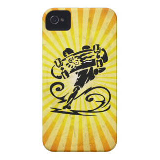 Extreme Skateboarder; yellow iPhone 4 Cases