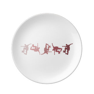 Extreme Skating Porcelain Plates