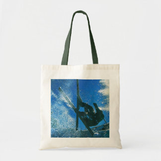 Extreme Skiing Tote Bags