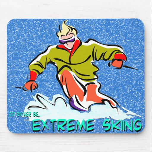 Extreme Skiing Mousepads