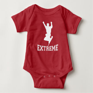 EXTREME Snowboard 2 (white) Baby Bodysuit