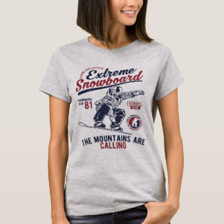 Extreme Snowboard, The Mountains are Calling T-Shirt