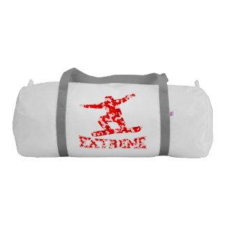 EXTREME Snowboarder 1 RED CAMO Gym Bag