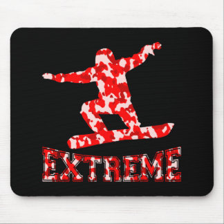 EXTREME Snowboarder 1 RED CAMO Mouse Pad