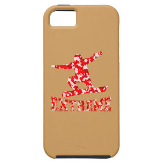 EXTREME Snowboarder 1 RED CAMO Tough iPhone 5 Case