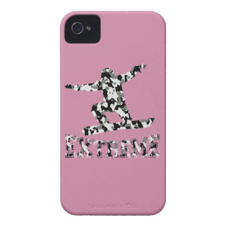 EXTREME SNOWBOARDER IN URBAN CAMO iPhone 4 CASES