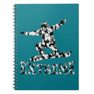 EXTREME SNOWBOARDER IN URBAN CAMO NOTEBOOK