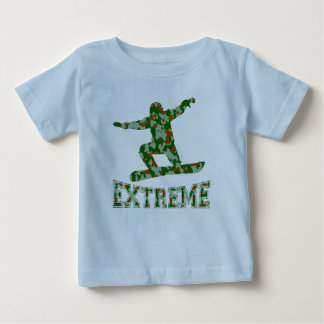 EXTREME snwbrd 1 GREEN BROWN CAMO Baby T-Shirt