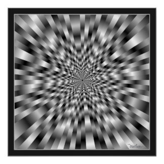 Extreme Speed Optical Illusion Poster