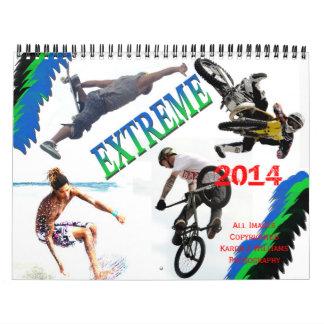 Extreme Sports 2014 Calendar, BY Karen J Williams Wall Calendars