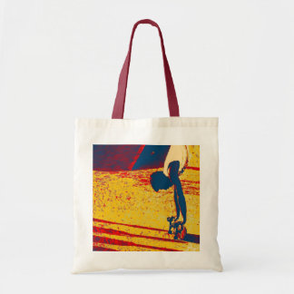 Extreme Sports Freestyle Skateboard Trick Tote Bags