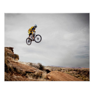 Extreme Sports Poster: Guy on Bike doing Tricks Poster