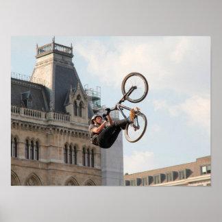 Extreme Sports Poster:Guy on Bike doing Tricks Poster