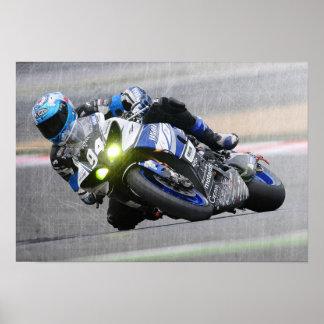 Extreme Sports Poster:Guy on Motocross Bike Poster