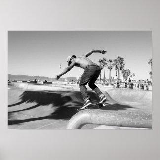 Extreme Sports Poster: Skateboarder doing Tricks Poster