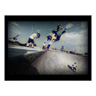Extreme Sports Poster:Skateboarders doing Tricks Poster