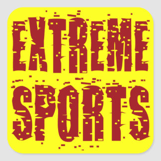 Extreme Sports Square Sticker