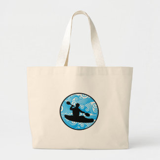 Extreme Wave Runner Large Tote Bag