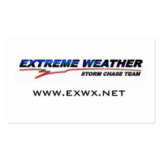 Extreme Weather Team Contact Card Business Card Template