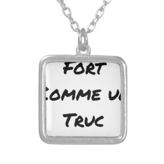 EXTREMELY LIKE a TRICK - Word games - François Silver Plated Necklace