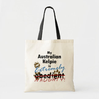 Extremely Naughty Australian Kelpie Budget Tote Bag
