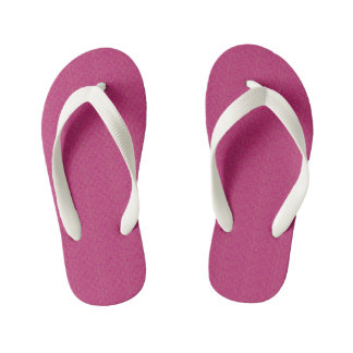 Extropix Beautiful Pink Pattern Kid's Thongs